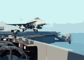 F/a-18c Hornet Launches From Uss Lincoln Clip Art