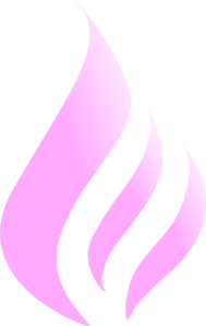 Blue Flame Simple Pink White Clip Art