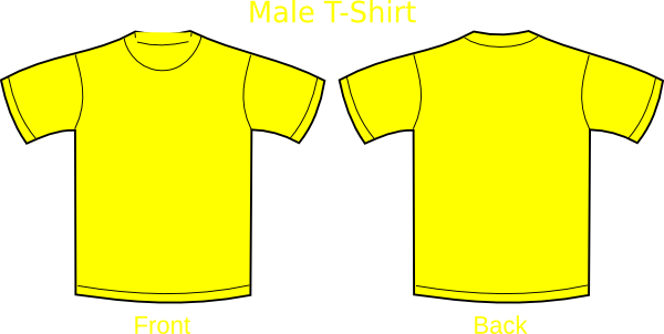 Plain T Shirts Yellow Clip Art At Clker Com Vector Clip