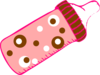 Dotted Pink Bottle Clip Art