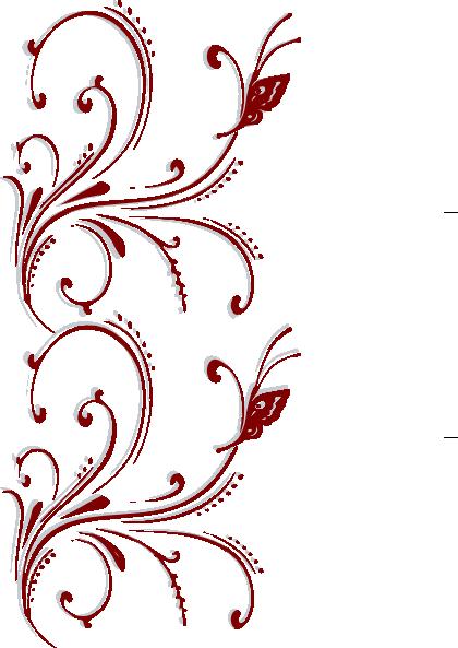 Red Butterfly Scroll Clip Art At Clker Com Vector Clip