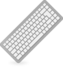 Desktop Keyboard Clip Art