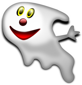 Cartoonish Ghost Clip Art