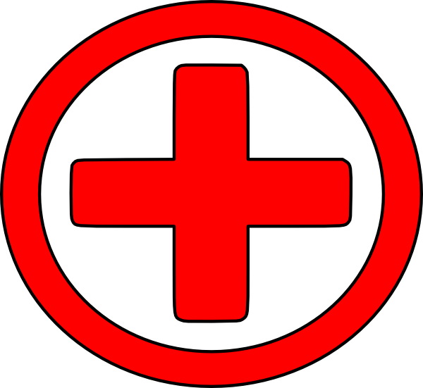 Plus sign 3d red