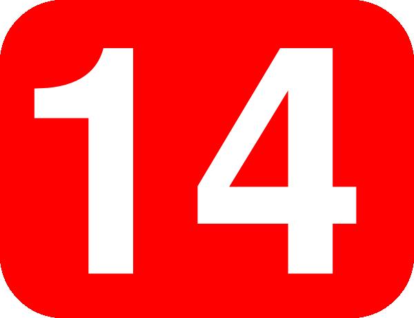 Number 14 Red Background Clip Art At Clker Com