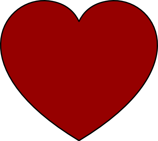 Solid Garnet Heart Clip Art at Clker.com - vector clip art ...