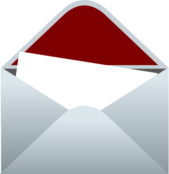 Lined Envelope With Letter Clip Art at Clker.com - vector
