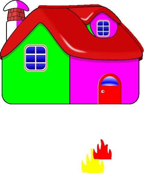 Colorful House Clip Art at Clker.com - vector clip art ...