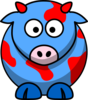 Blue/red Cow Clip Art