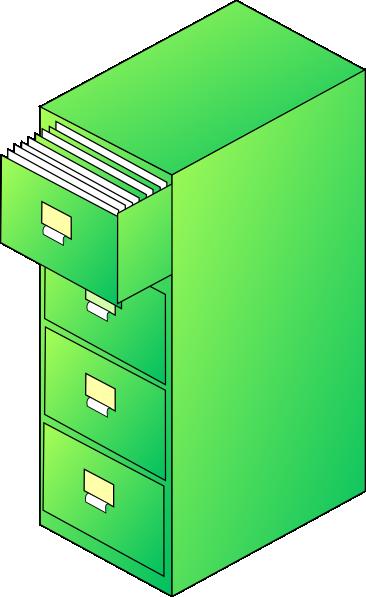 Filing Cabinet Green Clip Art at Clker.com - vector clip ...