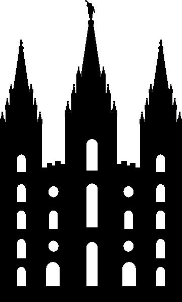 Salt Lake Temple Silhouette Clip Art At Clker Com Vector
