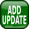 Green Add Update Square Button Clip Art
