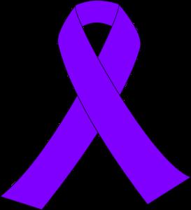 Purple Breast Cancer Ribbon Clip Art at Clker.com - vector clip art online,  royalty free & public domain