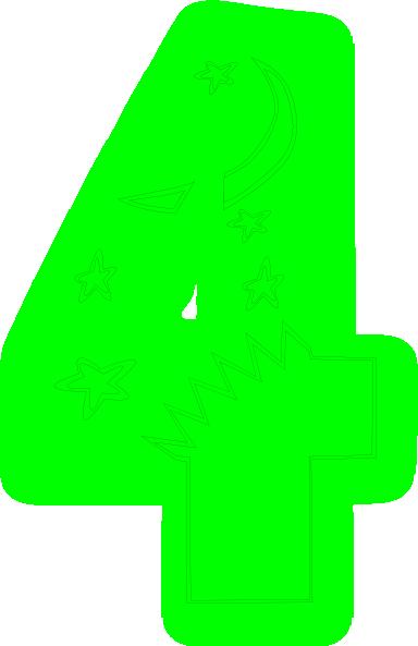 Kids Number Bright Green Clip Art At Clker Com