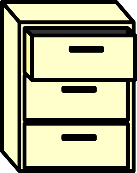 filing cabinet clip art at clkercom vector clip art