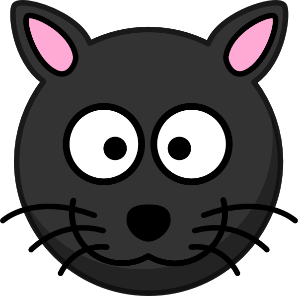 Black Cat Head Clip Art at Clker.com - vector clip art ...