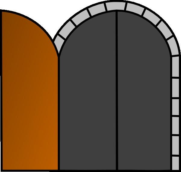 Open Wooden Door Clip Art at Clker com vector clip art
