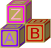 Baby Blocks Abc 2 Clip Art