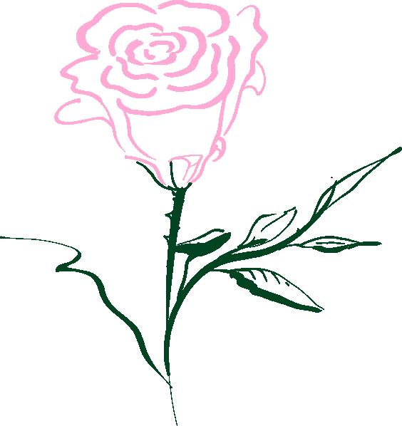 Black Flower 3 Clip Art At Clker Com: Pink Rose Clip Art At Clker.com