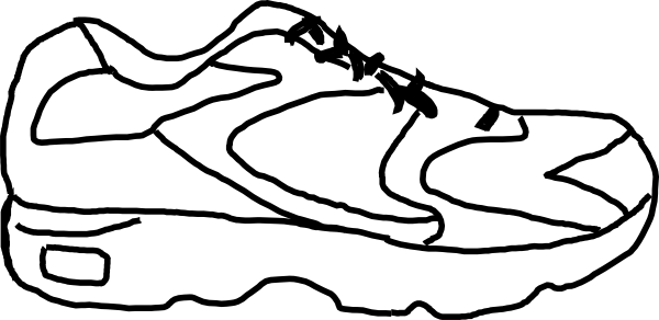 Running Shoe With Sensor Clip Art At Clker