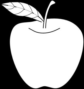 Apple Outline Clip Art at Clker.com - vector clip art ...