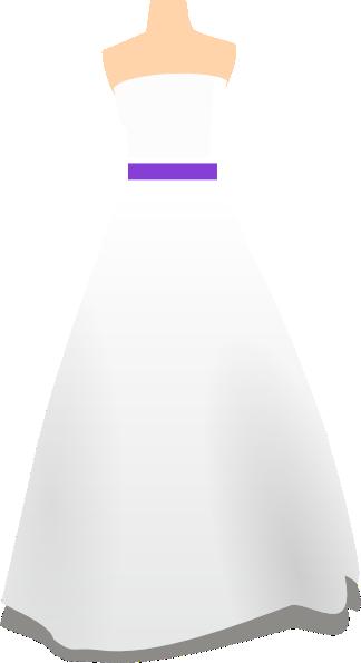 simple purple wedding dress clip art at clkercom vector