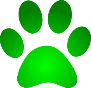 green paw print with gradient clip art at clker com free paw print clip art images free paw print clip art images in blue