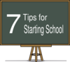 7 Tips For Starting School Clip Art