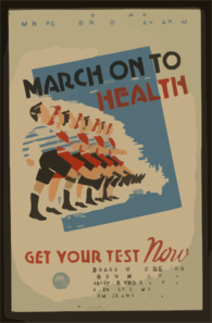 March On To Health Get Your Test Now : City Of Chicago Municipal Tuburculosis Sanitarium. Clip Art