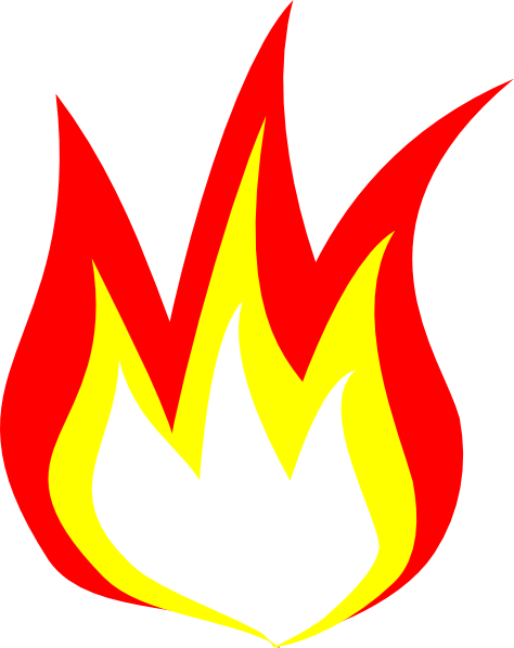 Flame 2 Color Clip Art At Vector Clip Art