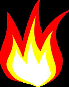 Flame 2 Color Clip Art At Clker Com Vector Clip Art