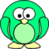 Green Penguin Clip Art