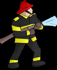 fire fighter clip art at clker com vector clip art fireman clip art images black and white Black Fireman Clip Art