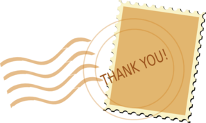 Thank You Post Mark Clip Art