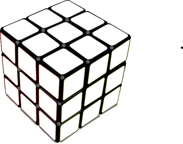 Rubiks Cube White Clip Art at Clker.com - vector clip art ...