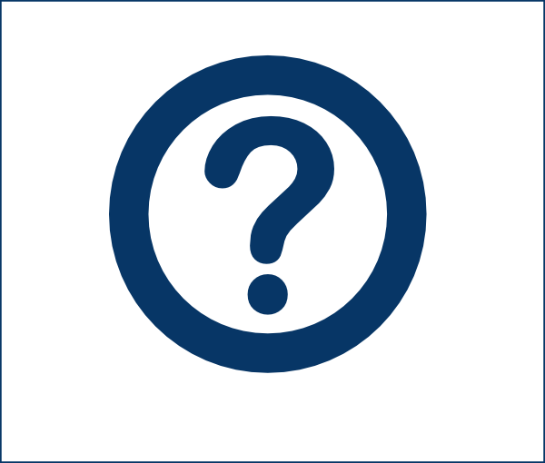Dark blue question mark