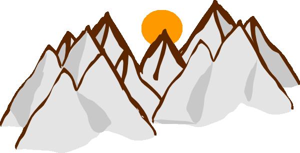 mountain range sunset clip art at clker com vector clip art online rh clker com mountain range clip art free mountain range outline clipart