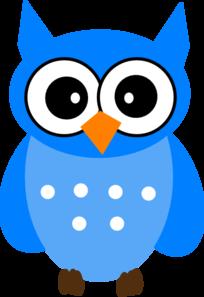 Blue Owl Clip Art at Clker.com - vector clip art online ...
