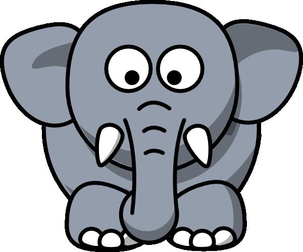 gray elephant clip art at clker com vector clip art monkey face clip art black and white Monkey Clip Art Black and White