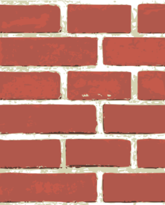 Brick Wall Pattern Clip Art