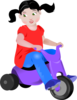 Toddler On Trike Clip Art