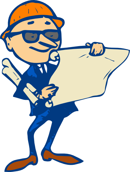 Engineer With Plans Clip Art At Clker Com Vector Clip