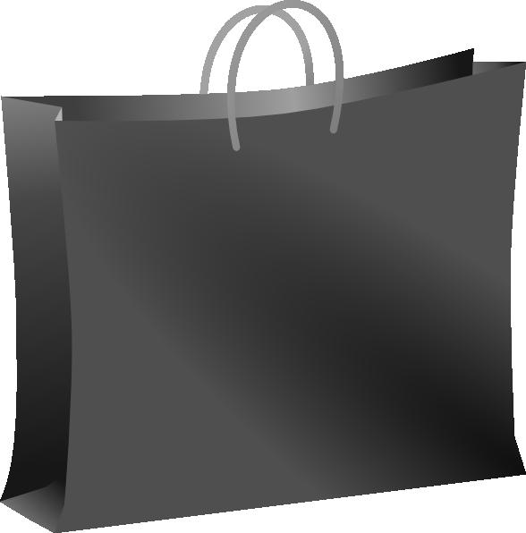 Black Shopping Bag Clip Art at Clker.com - vector clip art ...