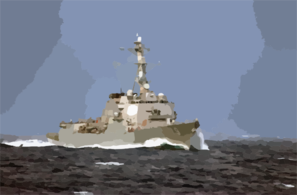 The Guided Missile Destroyer Uss Oscar Austin (ddg 79) Steams Off The Coast Of Florida Clip Art