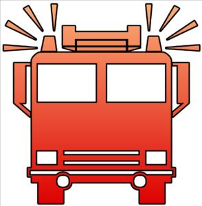 Fire Truck Cutout Clip Art at Clker.com - vector clip art ...