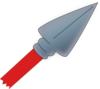 Red Spear Clip Art