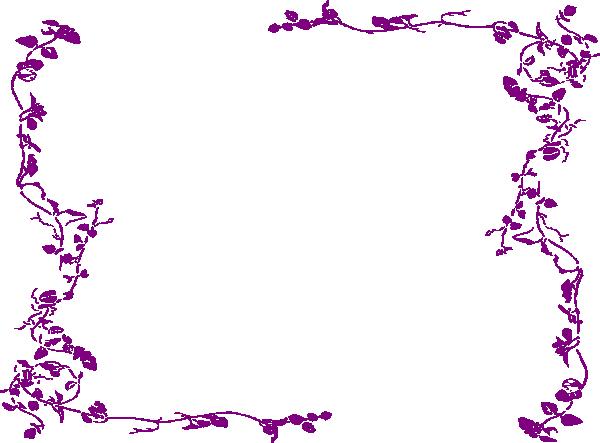 Purple Wedding Borders Clip Art - 56.2KB