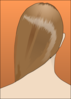 Woman With Shiny Long Hair Clip Art
