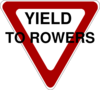 Yield To Rowers Clip Art