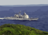 The Guided Missile Cruiser Uss Chancellorsville (cg 62) Enters Apra Harbor, Guam Clip Art